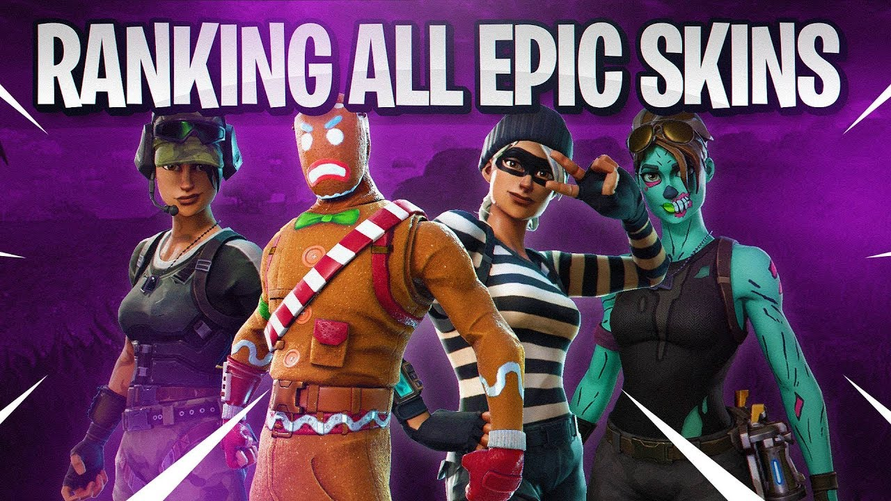 All Epic Skins In A Bracket  Best Epic Skins Fortnite Battle Royale