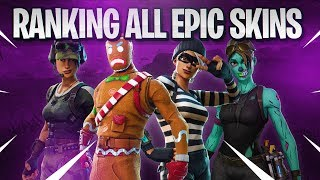 ALL EPIC SKINS IN A BRACKET! (10 BEST EPIC SKINS!) | Fortnite Battle Royale!