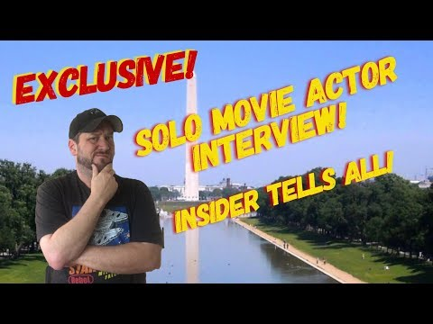 Solo Movie Actor Interview! (on set actor talks!)