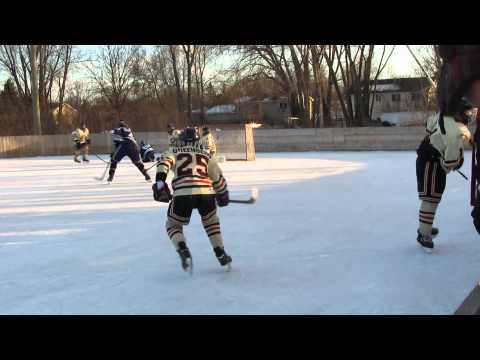 Palm Beach Blackhawks Travel Bantam AA 01 vs Colorado Rampage 1-18-15 Outside friendly game