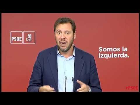 Ruead de prensa de Óscar Puente (PSOE)