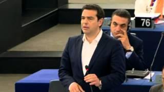 Greece:  PM Tsipras debates in European Parliament Strasbourg
