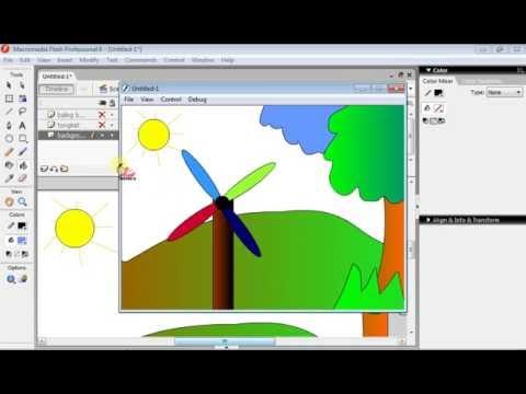 Tutorial membuat animasi sederhana di macromedia flash 8
