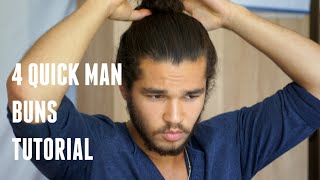 4 quick Man Buns Tutorial | The Beauty Wand by Kay