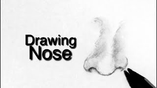 How to draw nose|easy technique by art core