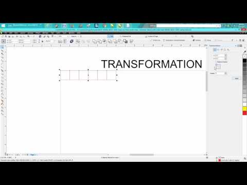 Corel Draw Tips & Tricks Transformation Docker PART 6