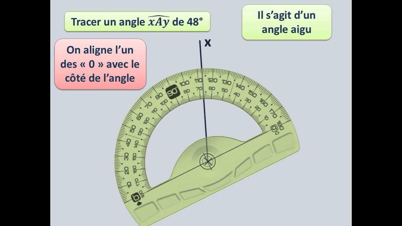 Utiliser un rapporteur pour tracer un angle de mesure for Meubler un angle de mur