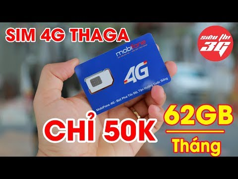 Review SIM 4G Mobifone THAGA Tặng 62GB/Tháng Chỉ Với 50.000đ ! Quá Rẻ