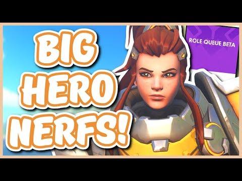 Overwatch - ALL HERO CHANGES (Brigitte Nerf, Reinhardt Passive, Symmetra Buff, AND MORE!)
