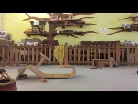 Hendri pushing big Feli at magic forest