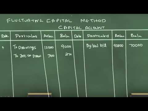 On Fixed Capital Method And Fluctuating Capital Method
