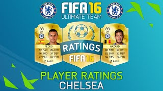 Fifa 16 Chelsea Player Ratings Ft. Hazard, Pedro, Fabregas & More! - Fifa 16 Ultimate Team