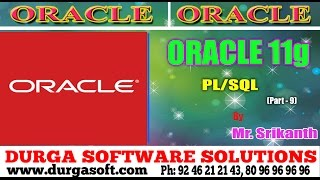 Gambar cover Oracle Tutorial ||onlinetraining|| PL/SQL Part - 9 by Srikanth