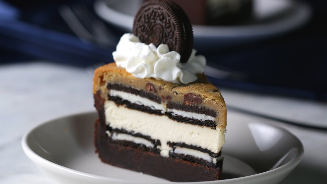 Cookie And Brownie Layer Cake