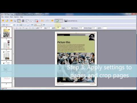 A-PDF Page Crop - Simple PDF Tool To Crop Or Remove The Margin Of PDF Page