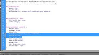 HTML / HTML5 Tutorial: Navigation / Menü mit der Sliding Doors Technik