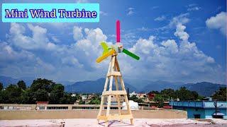 Science fair project mini wind turbine | Popsicle sticks crafts