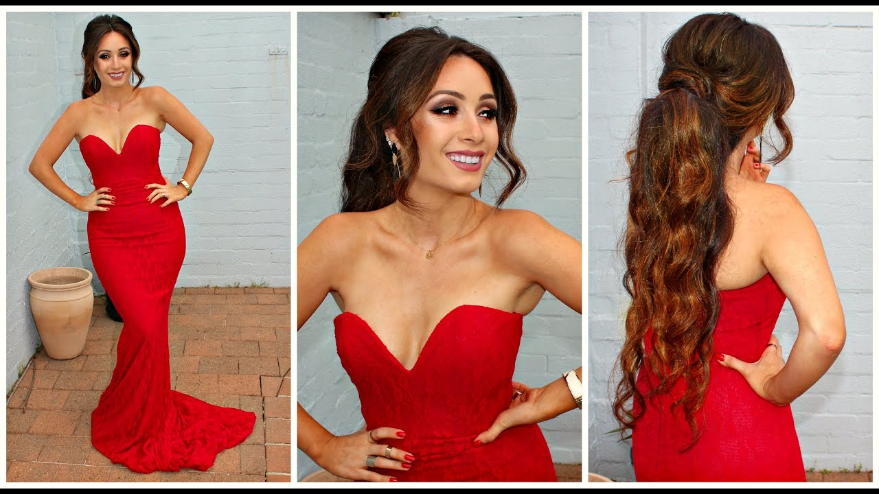 Get prom ready with me hair makeup dress - Get Ready With Me Date Night Formal Prom Look