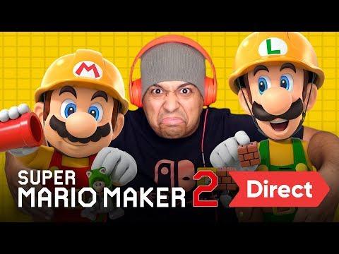 SUPER MARIO MAKER 2 DIRECT [LIVE REACTION]