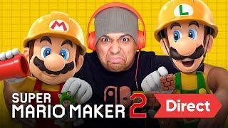 SUPER MARIO MAKER 2 DIRECT [LIVE REACTION] thumbnail