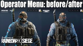 One of Rogue-9's most viewed videos: The Operator Menu is getting a major buff! - Rainbow Six Siege