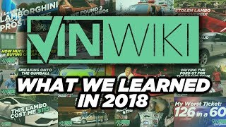 Here's what VINwiki learned in 2018