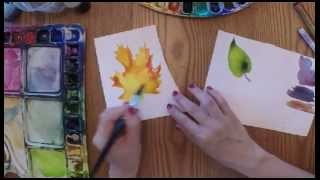 3 New Techniques for Painting Leaves in Watercolor