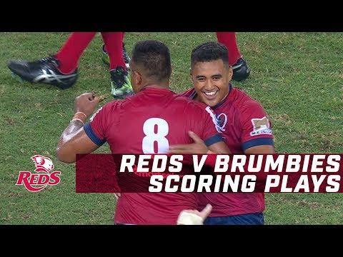 St.George Queensland Reds v Brumbies - Scoring Plays