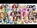 Disney Princess Dolls Learn Sizes Small to Big Ariel, Cinderella, Tiana, Rapunzel, Aurora