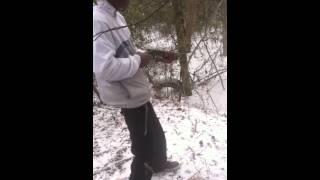 """My Friend Shooting A Sawed Off Shotgun """"Fail"""". . I"""