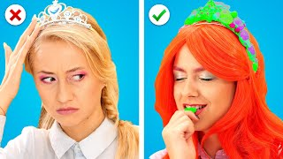 DISNEY PRINCESSES AT SCHOOL! School Supplies, Funny Situations & Ways To Sneak Candy by Crafty Panda