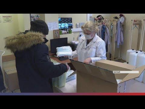 Первая партия медицинских масок поступила в медцентр АЛРОСА