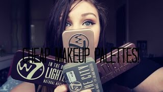 w7 eyeshadow palettes review swatches