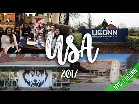 USA   NEW YORK CITY    UCONN   TRAVEL VLOG 2017