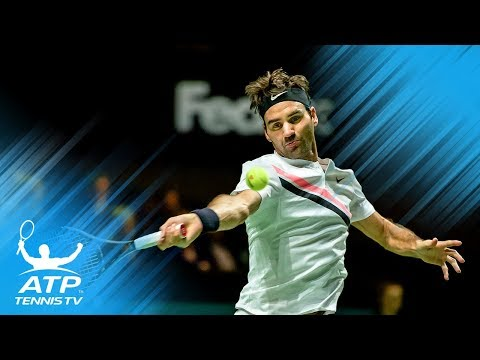 Federer one win from No.1; Dimitrov through to quarter-finals   Rotterdam 2018 Highlights Day 4
