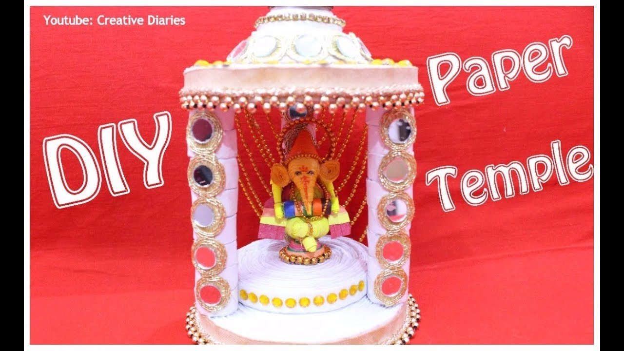 how to make paper temple at home i diy temple i best out of waste i