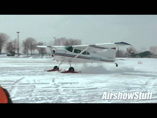 Cessna 185 Skiplane Takeoff