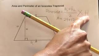How Find Area And Perimeter Isosceles Zoid