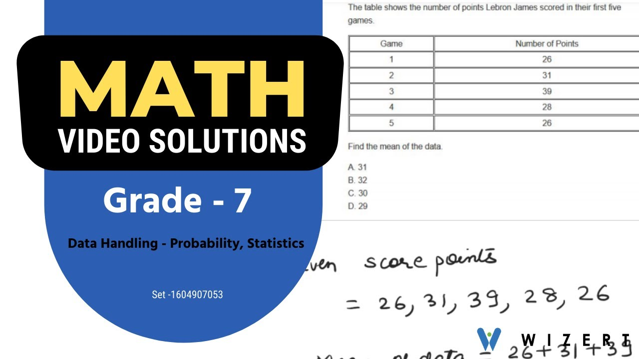 Math Tests And Maths Data Handling [ 720 x 1280 Pixel ]