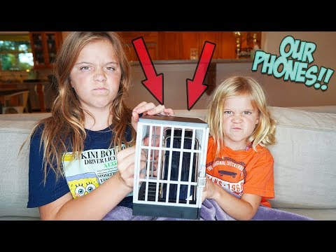 WE HAD TO PUT OUR KIDS NEW iPHONE IN JAIL