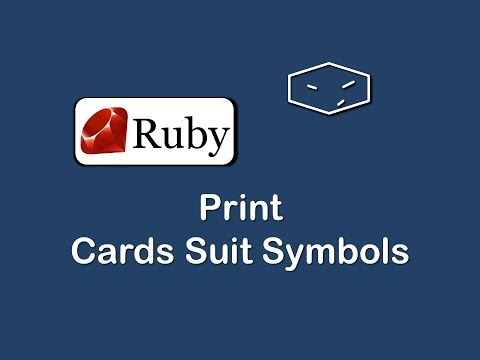 print cards suit symbols in ruby