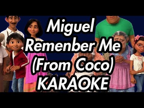 "Miguel - Remember Me (Dúo) (From ""Coco"") ft. Natalia Lafourcade (Karaoke Lyrics on Screen)"