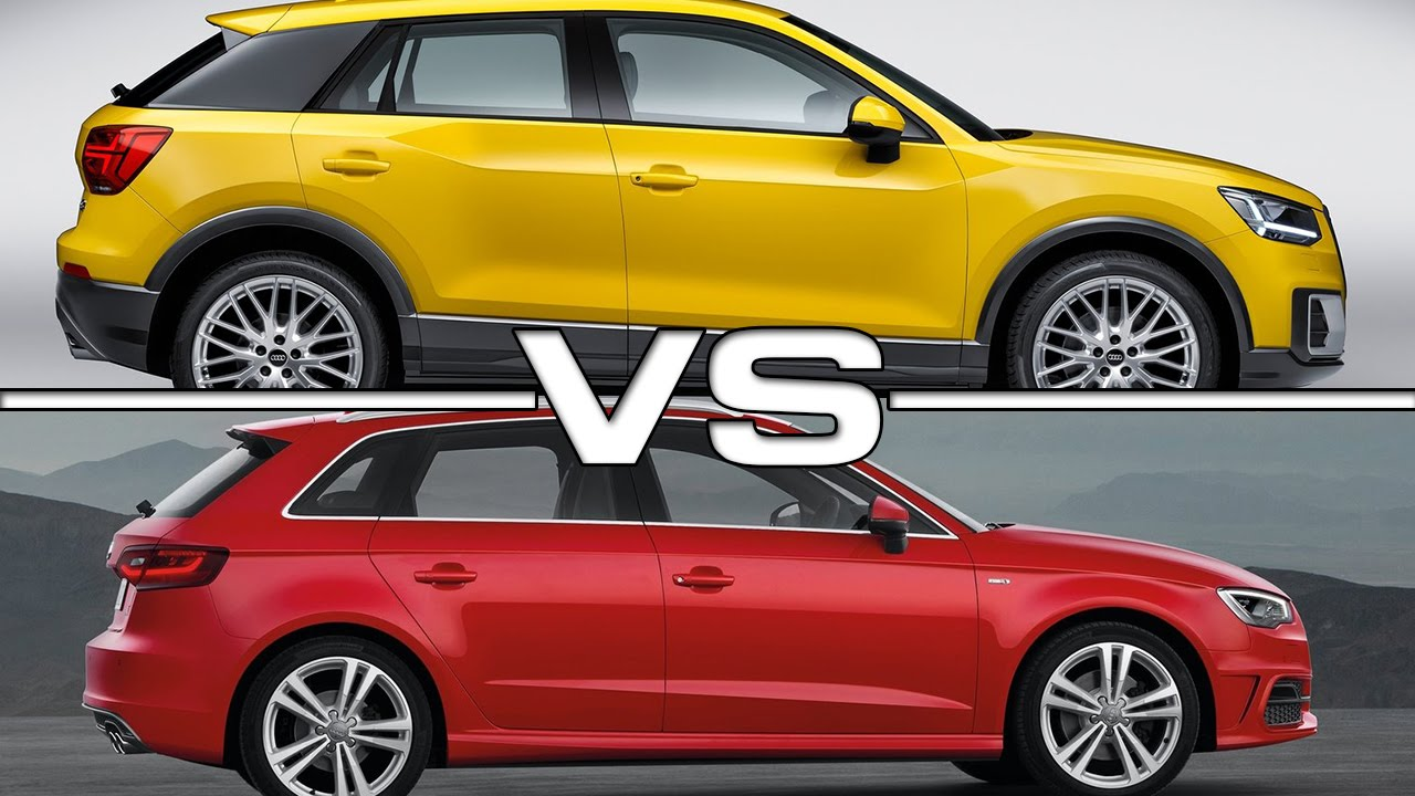 Audi Q2 Vs Audi A3 Sportback Youtube