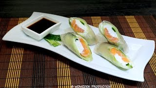 Salmon And Cream Cheese Rice Paper Rolls: Easily Made Recipe