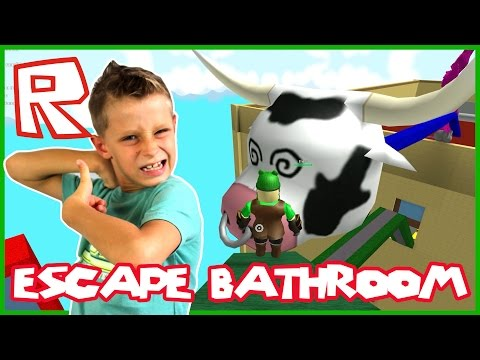 Escape Bathroom Obby / Big Cow Head / Roblox