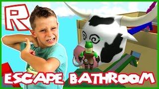 Escape Bathroom Obby / Big Cow Head / Roblox