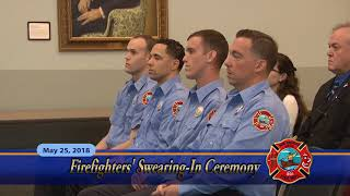 Firefighters Swearing in May 25