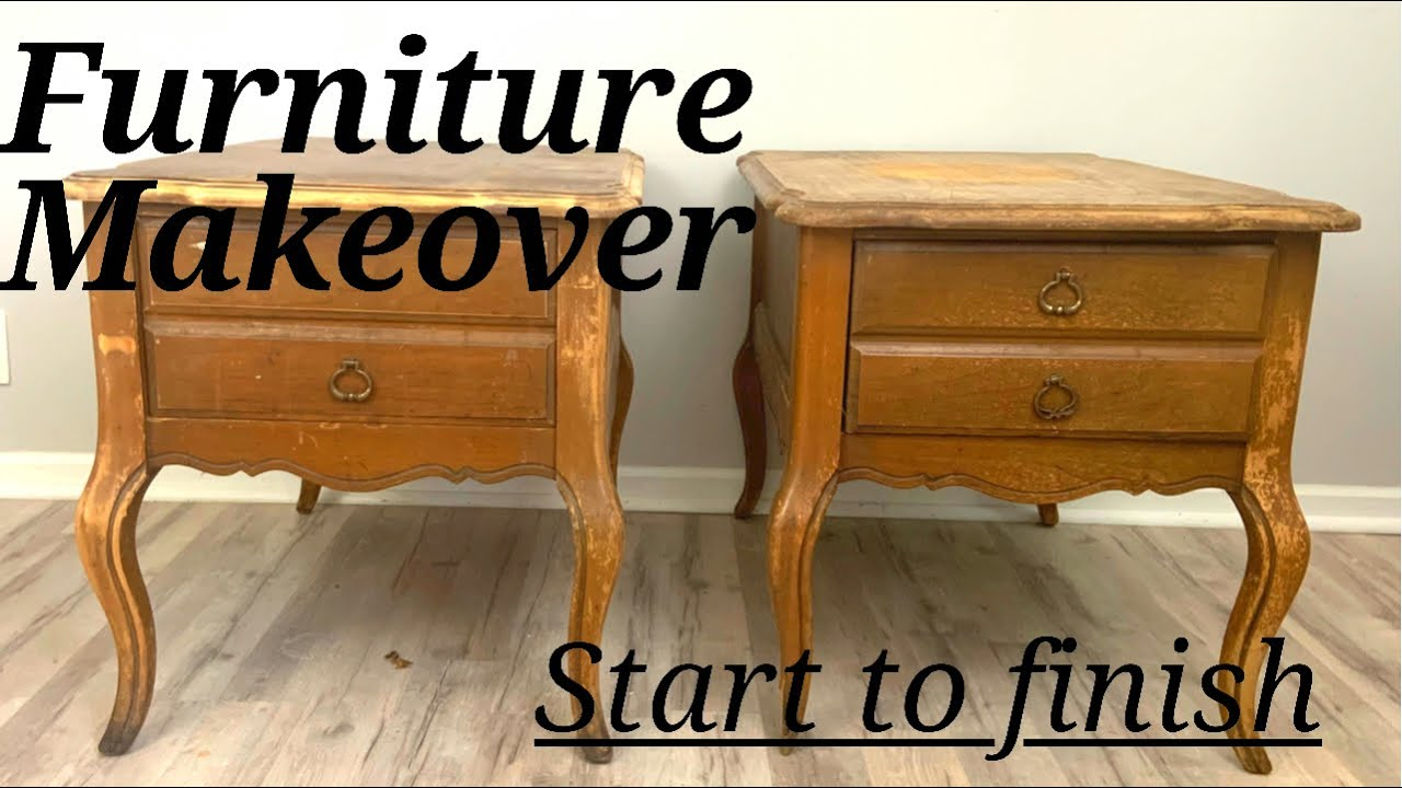 Start to Finish Side Table Furniture Makeover | How to update your old tables | Trash to Treasure