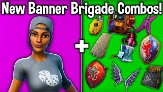"""""""BANNER BRIGADE"""" SKINS COMBO WITH *EVERY* BACKBLING! (Fortnite Best Cheap Tryhard Skins)"""