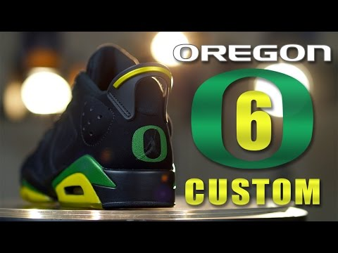 Custom Air Jordan 6's: Oregon Ducks - Restorations with Vick Almighty.